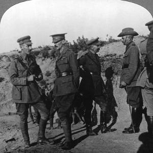 Lord Kichener Reviews the Situation at Gallipolli with Anzac Officers, World War I, 1915-1916