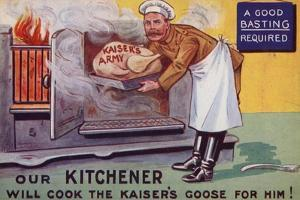 Lord Kitchener Cooking the Kaiser's Army Goose