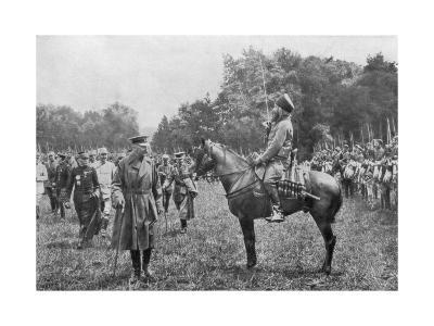 Lord Kitchener Inspecting Algerian Troops, France, World War I, 16 August 1915--Giclee Print