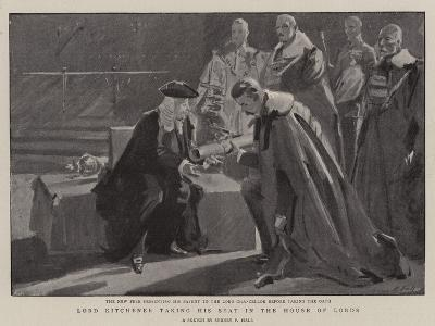 Lord Kitchener Taking His Seat in the House of Lords-Sydney Prior Hall-Giclee Print