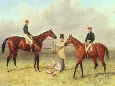 """Lord Lyon"", Winner of the Derby, St. Leger and 2,000 Guineas; ""Elland"", Winner of Ascot Gold?-Harry Hall-Giclee Print"