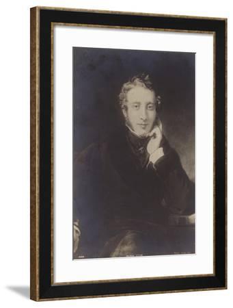Lord Lytton--Framed Giclee Print