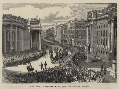 Lord Mayo's Funeral, a Sketch Near the Bank of Ireland--Giclee Print