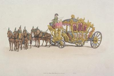 Lord Mayor's Coach Pulled by a Team of Six Horses, 1805--Giclee Print
