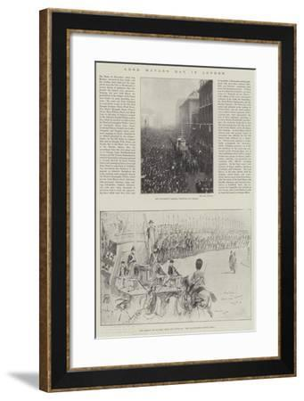 Lord Mayor's Day in London-Henry Charles Seppings Wright-Framed Giclee Print