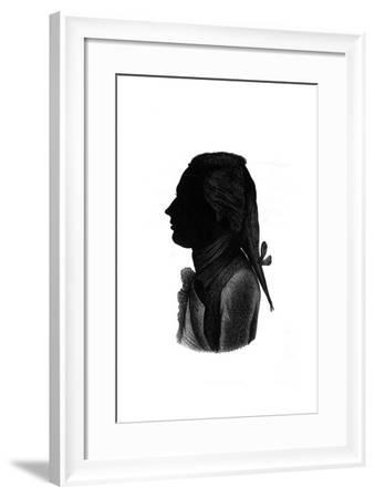 Lord Nelson, Silhouette--Framed Giclee Print