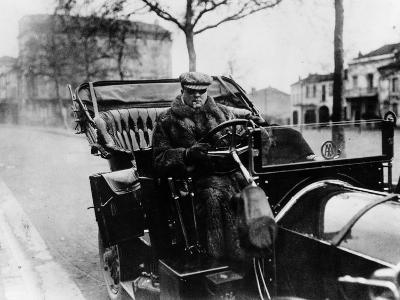 Lord Northcliffe at the Wheel of a 1908 135 Hp Mercedes, (C1908)--Photographic Print
