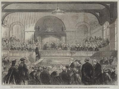 Lord Palmerston Distributing Certificates to the Successful Candidates in the Recent Oxford Middle---Giclee Print
