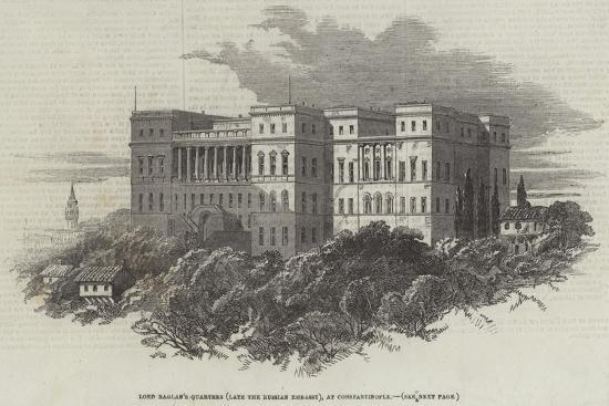 Lord Raglan's Quarters (Late the Russian Embassy), at Constantinople--Giclee Print