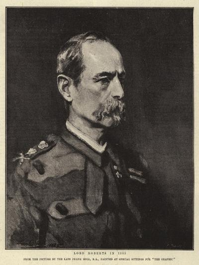 Lord Roberts in 1885-Frank Holl-Giclee Print