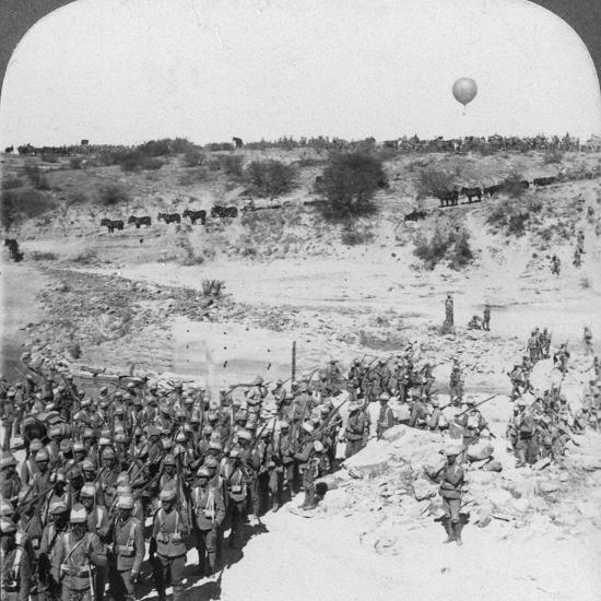 Lord Roberts' Infantry Crossing the Zand River, South Africa, C1900s-Underwood & Underwood-Photographic Print