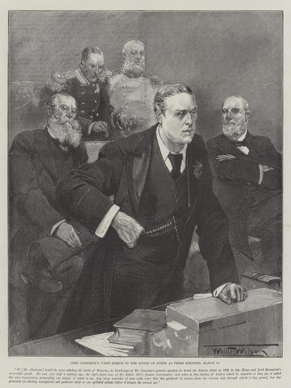 Lord Rosebery's First Speech in the House of Lords as Prime Minister, 12 March-Thomas Walter Wilson-Giclee Print