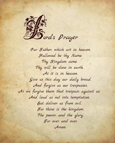 Lord's Prayer-Veruca Salt-Art Print