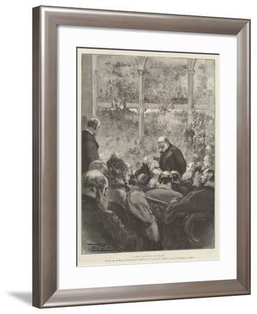Lord Salisbury at Preston-Thomas Walter Wilson-Framed Giclee Print