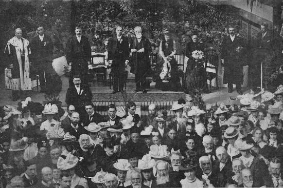 'Lord Strathcona Opening the Free Church Bazaar in his Native Town of Forres', 1900-Unknown-Photographic Print