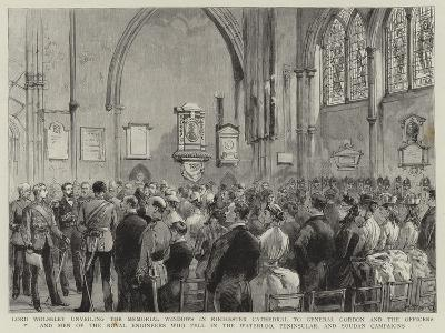 Lord Wolseley Unveiling the Memorial Windows in Rochester Cathedral to General Gordon and the Offic--Giclee Print