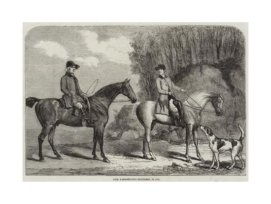 Lord Yarborough's Huntsmen, in 1792--Giclee Print