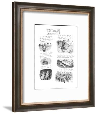 Lore and Legend Of The Pennypackers - New Yorker Cartoon-Roz Chast-Framed Premium Giclee Print