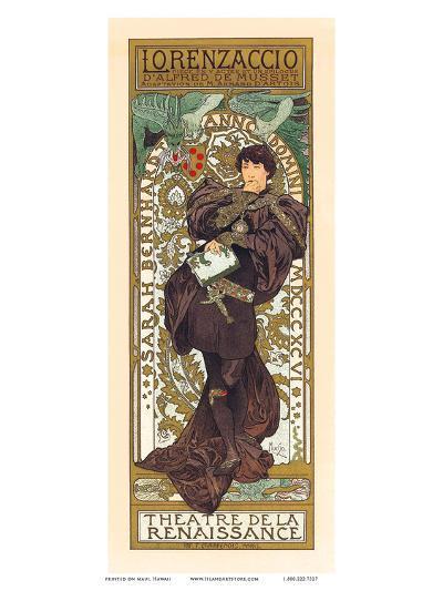 Lorenzaccio, Art Nouveau, La Belle Époque-Alphonse Mucha-Art Print