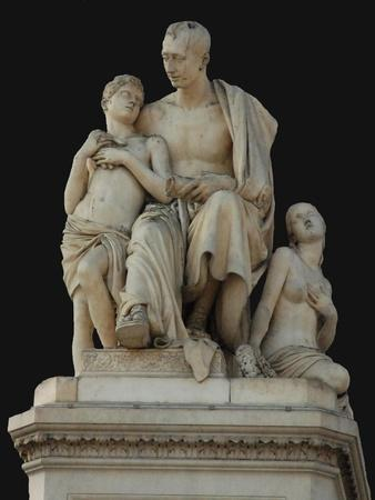 Monument to Count Nikolai Nikitich Demidov at the Piazza Demidoff in Florence, 1830-1850