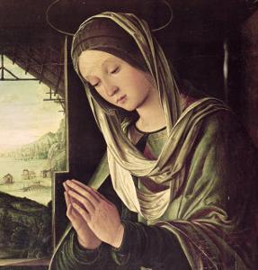The Nativity, circa 1490 by Lorenzo Costa