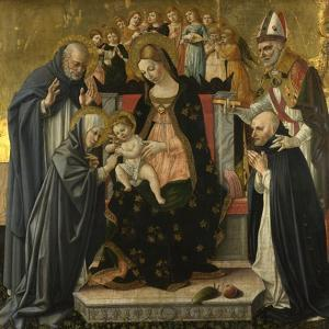 The Mystic Marriage of Saint Catherine of Siena, C.1490-1495 by Lorenzo d'Alessandro
