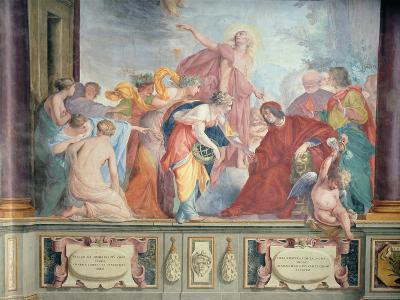 Lorenzo De Medici and Apollo Welcome the Muses and Virtues to Florence- Cecco Bravo-Giclee Print