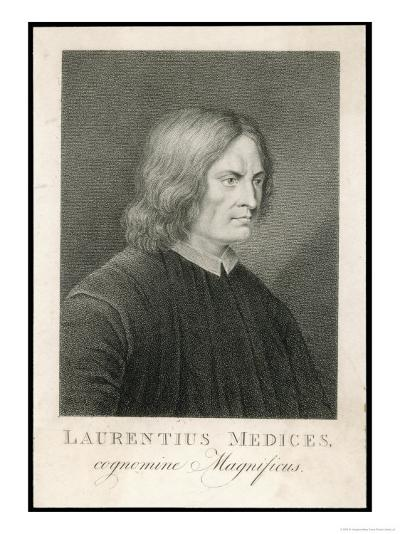 Lorenzo de Medici Italian Statesman Known as the Magnificent-M. Haughton-Giclee Print