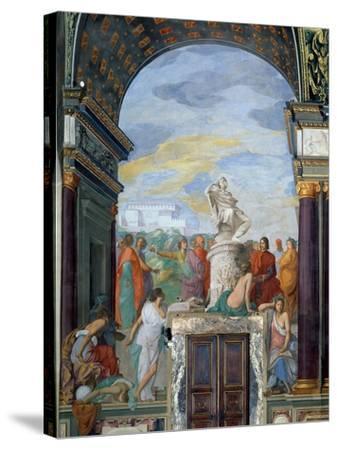Lorenzo De' Medici-Giovanni Mannozzi-Stretched Canvas Print