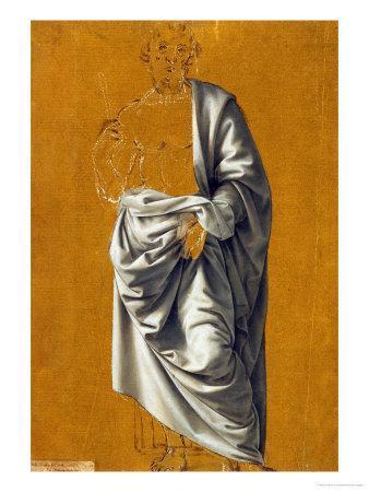 Study of Drapery for the Figure of Saint Bartholomew