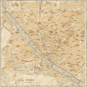 Mapa Di Firenze, 1896 by Lorenzo Fiore