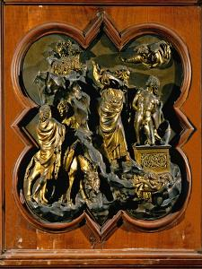 Abraham's Sacrifice of Isaac, Bronze Relief, 1401 by Lorenzo Ghiberti