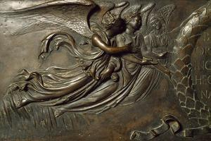 Angelic Figures, Detail of Front Facade of San Zenobi's Tomb by Lorenzo Ghiberti