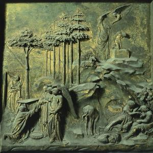 Appearance of Angels to Abraham and Sacrifice of Isaac by Lorenzo Ghiberti