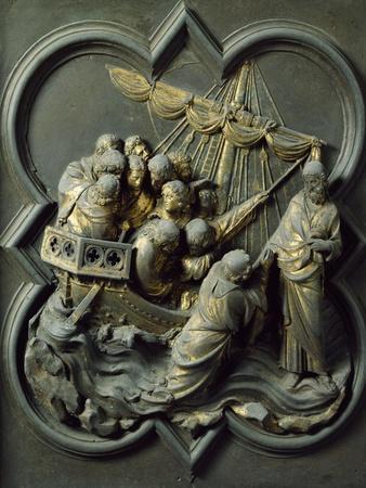 Christ in Storm, Bronze Panel