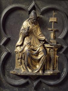 Church Father, Bronze Panel by Lorenzo Ghiberti