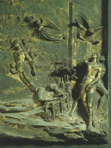 Creation of Adam and Eve, Original Sin and Expulsion from Paradise, Panel by Lorenzo Ghiberti