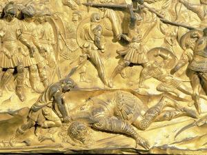 David and Goliath, Detail from the Original Panel from the East Doors of the Baptistery, 1425-52 by Lorenzo Ghiberti