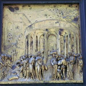 Detail of the Doors of Paradise, 15th century by Lorenzo Ghiberti