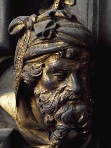 Head of Prophet, Bronze Panel by Lorenzo Ghiberti