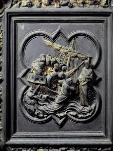 Jesus Walks on Water and Saves Peter, Eighth Panel of the North Doors of the Baptistery by Lorenzo Ghiberti