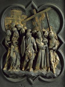 Road to Calvary, Panel by Lorenzo Ghiberti