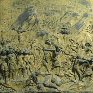 Slaying Goliath, Panel by Lorenzo Ghiberti