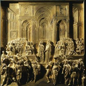 Solomon and the Queen of Sheba, Detail from Stories of the Old Testament by Lorenzo Ghiberti