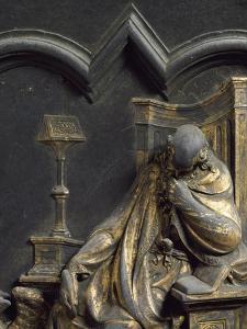 St John Evangelist, Bronze Panel by Lorenzo Ghiberti