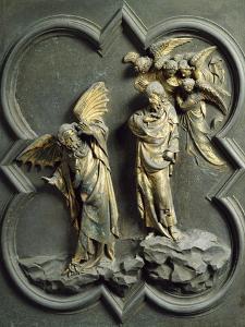 Temptation of Christ, Panel by Lorenzo Ghiberti
