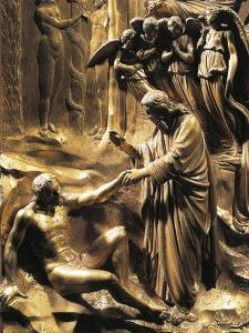 The Creation of Adam, Detail from the Stories of the Old Testament by Lorenzo Ghiberti