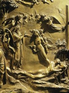 The Creation of Eve, Detail from Stories of the Old Testament by Lorenzo Ghiberti