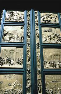 """The """"Gates of Paradise,"""" Baptistry East doors, Florence, Italy, 1425-1452 by Lorenzo Ghiberti"""