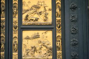 The Gates of Paradise, Baptistry, Florence, Italy, 1425-1452 by Lorenzo Ghiberti